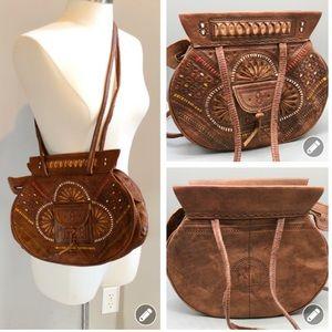 Vintage handmade boho shoulder bag